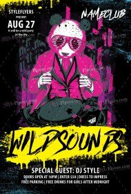 Wild Sounds PSD Flyer Template