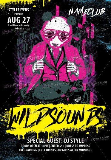 Wild Sounds PSD Flyer Template
