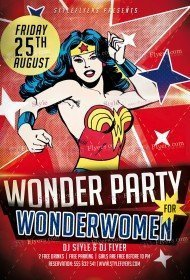 Wonder Party PSD Flyer Template