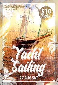 Yacht Sailing PSD Flyer Template