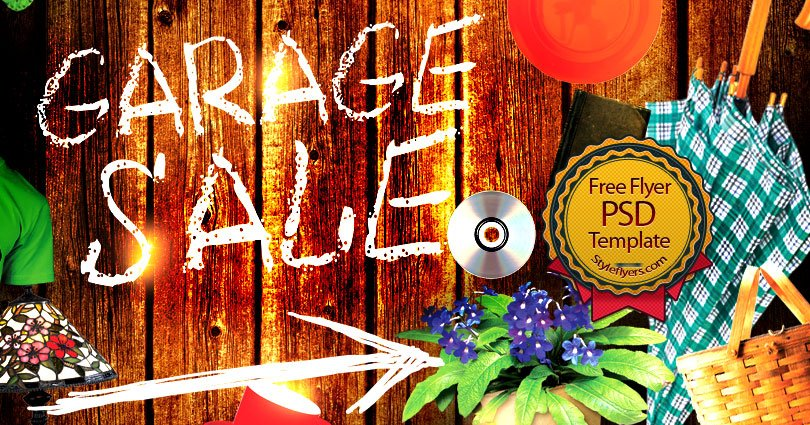 garage sale flyer free psd flyer template free download 11152