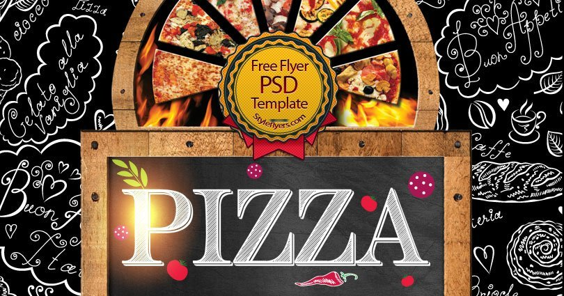 pizza free psd flyer template free download 10943 styleflyers