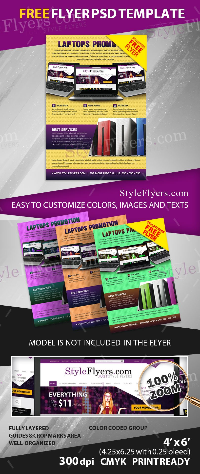 Free Promo Flyer Psd Flyer Template Free Download 11201 Styleflyers