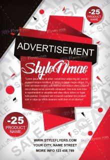 Advertisement FREE PSD Flyer Template Free Download #11716 ...