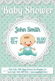 Amazing Baby Shower FREE PSD Flyer Template Within Baby Shower Flyer Templates Free