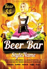 Beer Bar PSD Flyer Template