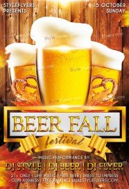 Beer Fall Fest PSD Flyer Template