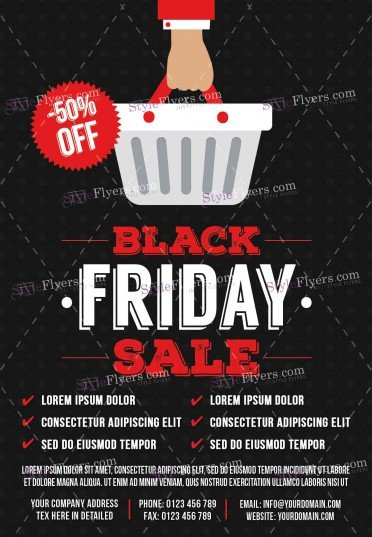 Black Friday Sale Psd Flyer Template #11755 - Styleflyers