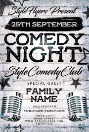 comedy-night-psd-flyer-template