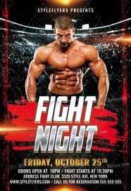 fight-night-psd-flyer-template