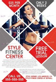 Superb Fitness FREE PSD Flyer Template