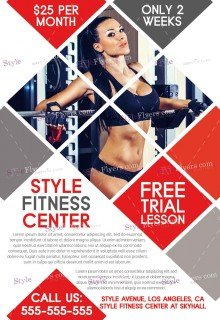 High Quality Fitness FREE PSD Flyer Template Throughout Free Fitness Flyer Templates