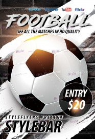 Free football flyer psd templates download styleflyers football free psd flyer template maxwellsz