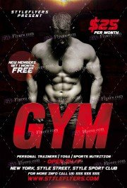 gym-psd-flyer-template