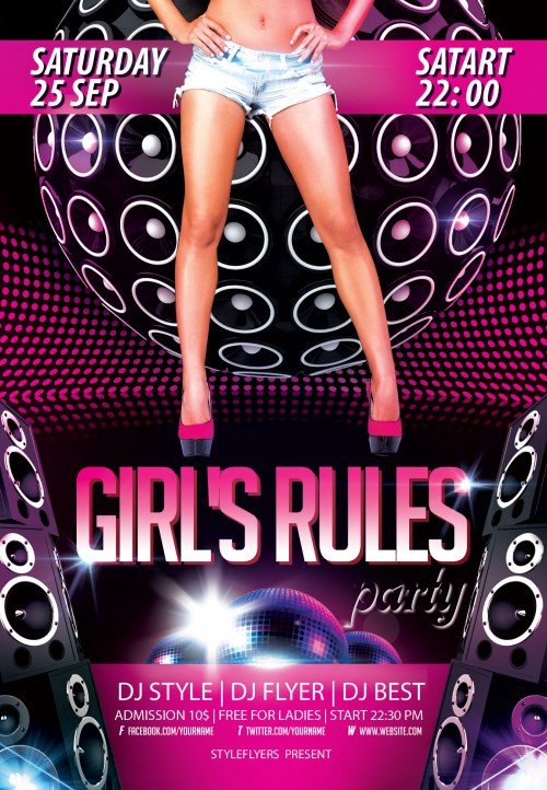 girls-rules-party-flyer-500x722