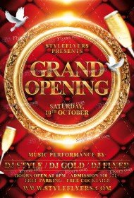 Grand_Opening FREE PSD Flyer Template