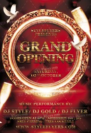 Grand Opening Flyer Template | Free Grand Opening Flyer Psd Templates Download Styleflyers