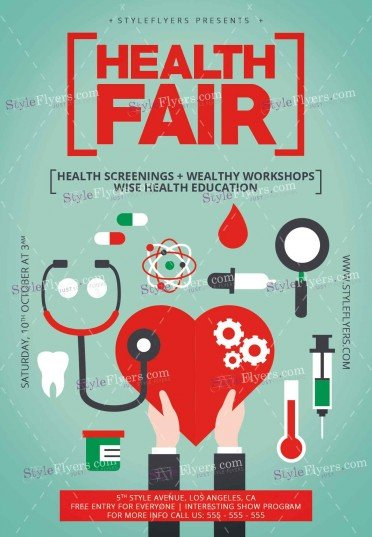 Health Fair PSD Flyer Template #11992 - Styleflyers