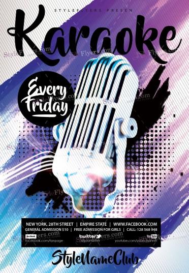 karaoke-psd-flyer-template