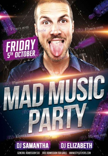mad-music-party-psd-flyer-template