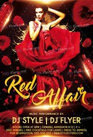 Red Affair PSD Flyer Template