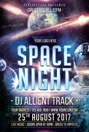 Space Trip PSD Flyer Template