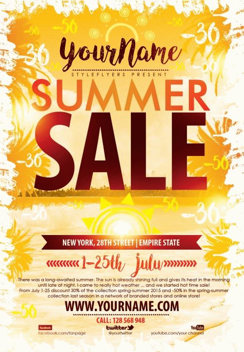 summer sale psd flyer template free download 9361 styleflyers