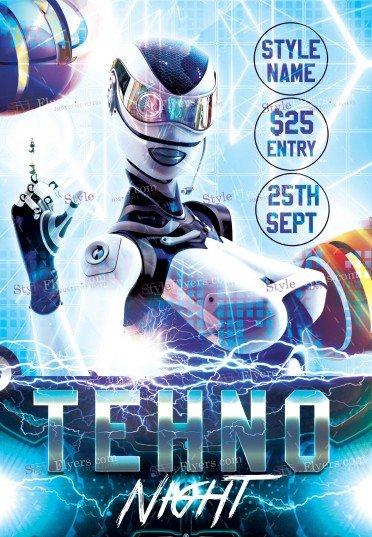 techno-night-psd-flyer-template