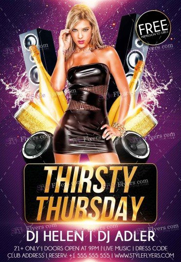 thirsty-thursday-psd-flyer-template
