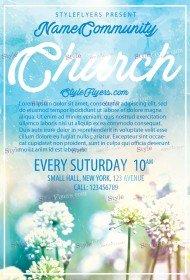 church free psd flyer template - Free Church Flyer Templates Photoshop