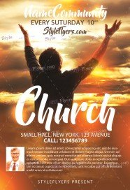 church flyers template elita aisushi co