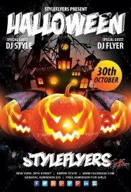 free halloween flyer psd templates download styleflyers