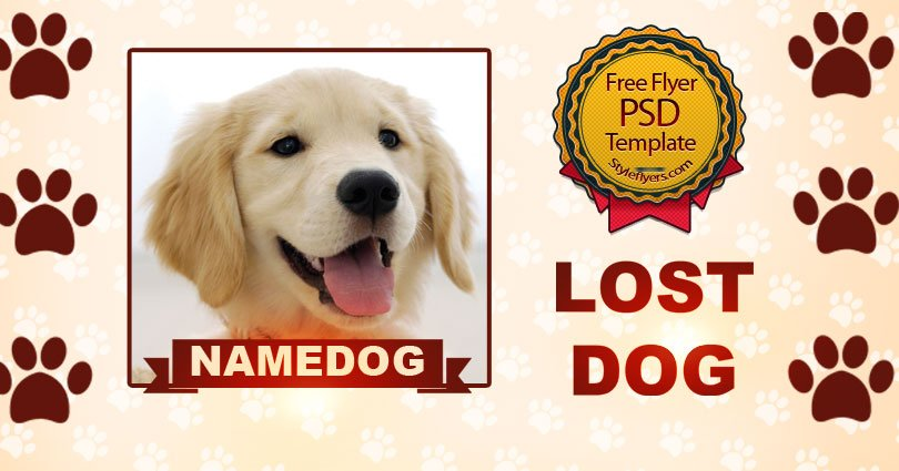 Lost Dog FREE PSD Flyer Template Free Download #12001 - Styleflyers
