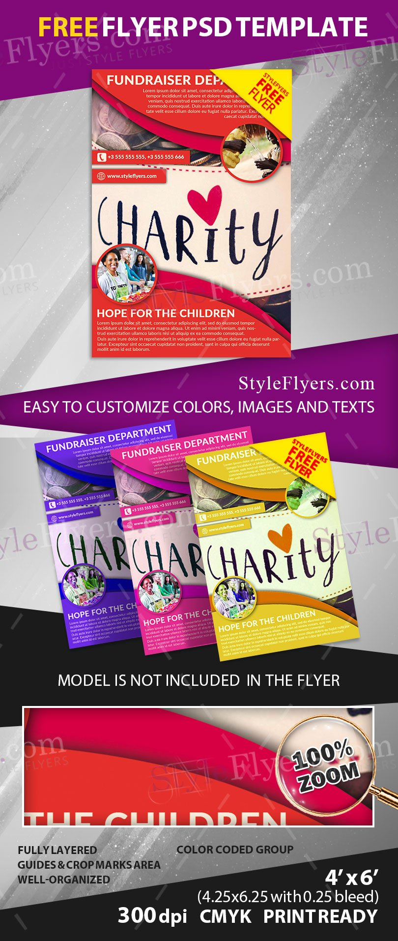 Fundraiser free psd flyer template free download 11693 for Free psd brochure template