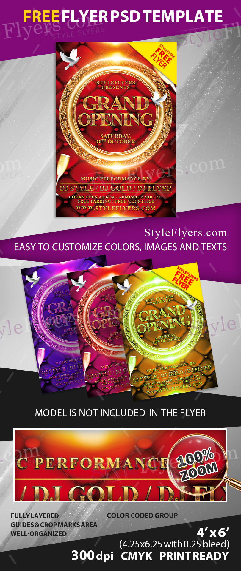 grand opening psd flyer template 11404 grand opening psd flyer template