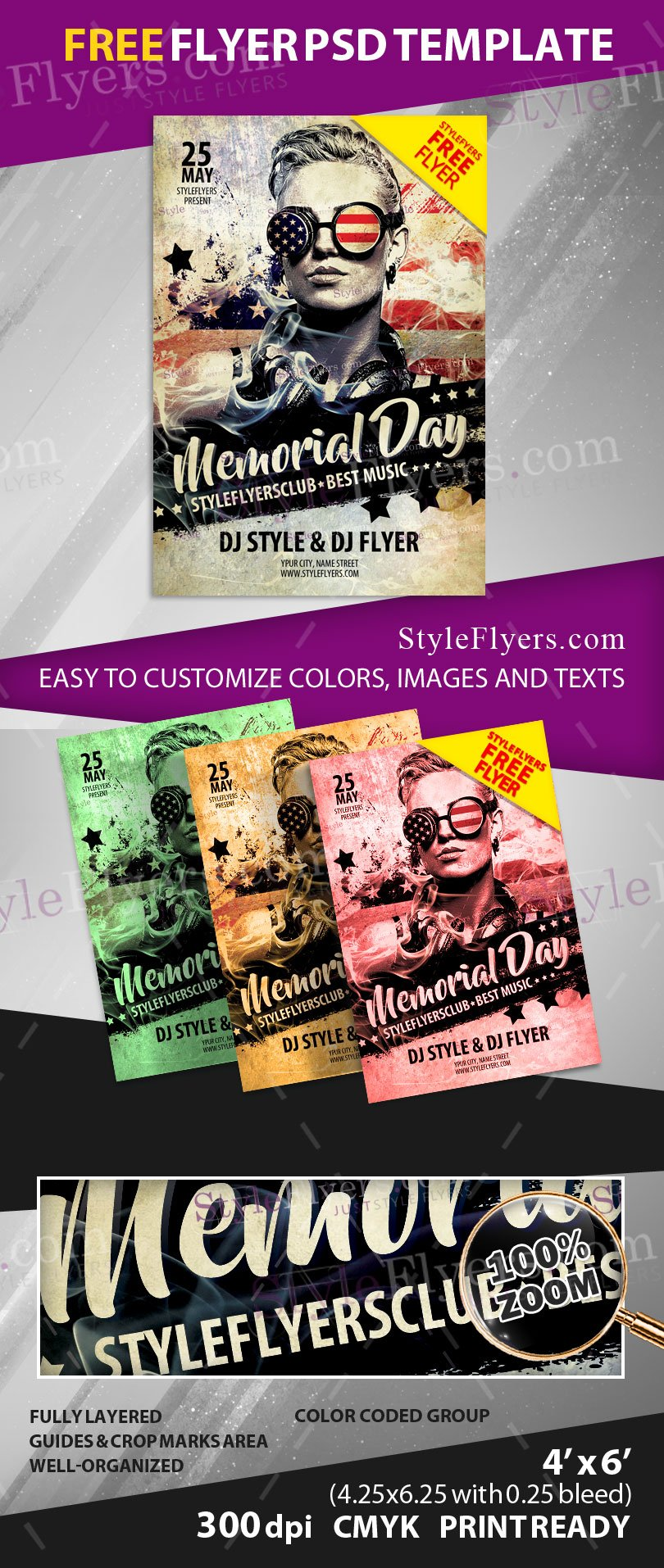 Memorial Day FREE PSD Flyer Template Free Download 12022 – Memorial Day Flyer Template