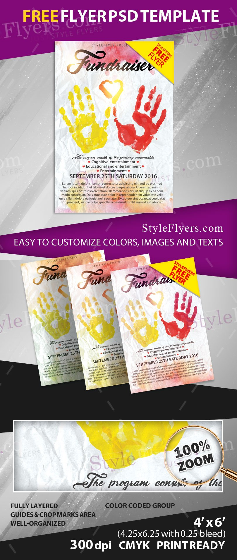 fundraiser free psd flyer template free download  11453