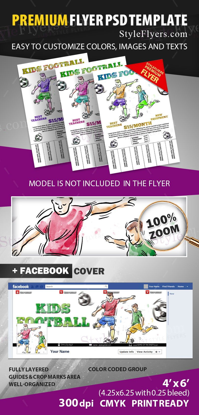 Pull Tab PSD Flyer Template #11963 - Styleflyers