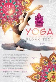 Free Yoga Flyer PSD Templates Download
