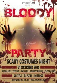 bloody-party-psd-flyer-template