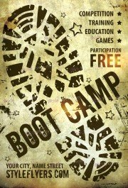 boot-camp-psd-flyer-template