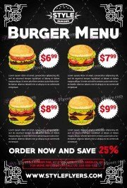burger-menu-psd-flyer-template