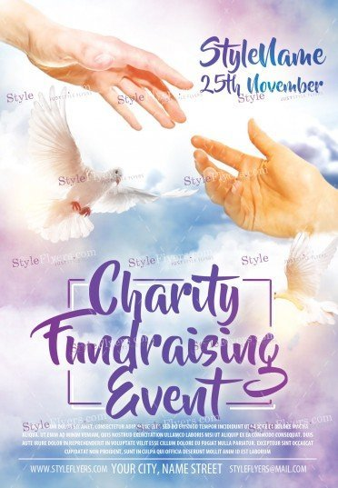charity fundraising event psd flyer template 12726 styleflyers