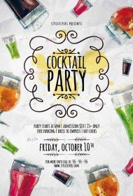 cocktail-party-psd-flyer-template