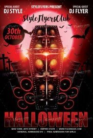 Free Halloween Flyer PSD Templates Download - Styleflyers
