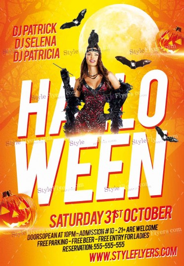 Halloween-PSD-Flyer-Template-yellow