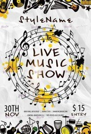 live-music-show-psd-flyer-template