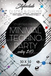 minimal-techno-party-psd-flyer-template