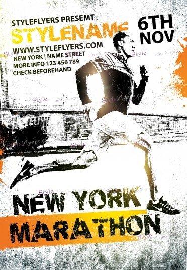 new-york-marathon-psd-flyer-template