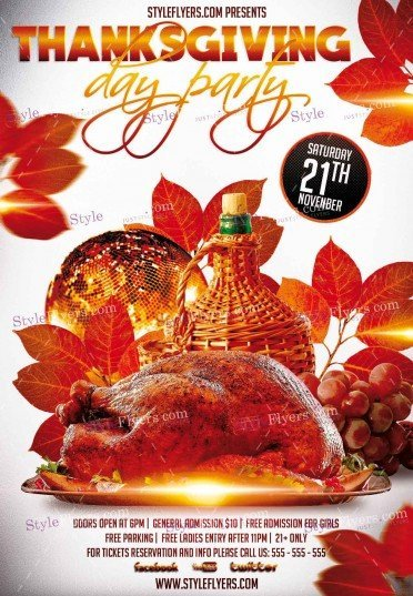 thanksgiving day psd flyer template 12555 styleflyers
